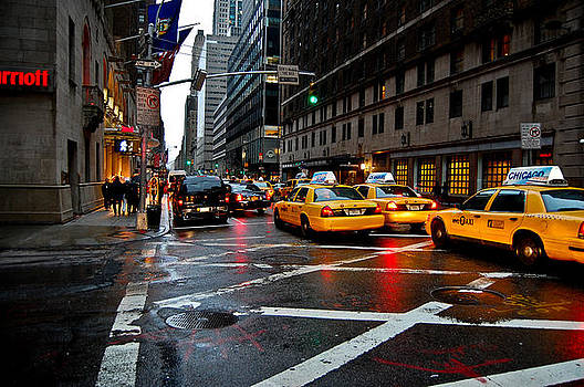 NYC Taxi's by Kenny Jalet