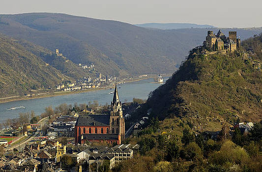 Oberwesel Rhine and Schoenbrunn Castle by David Davies