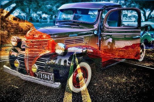Old car collage3 by Fero Kopacik