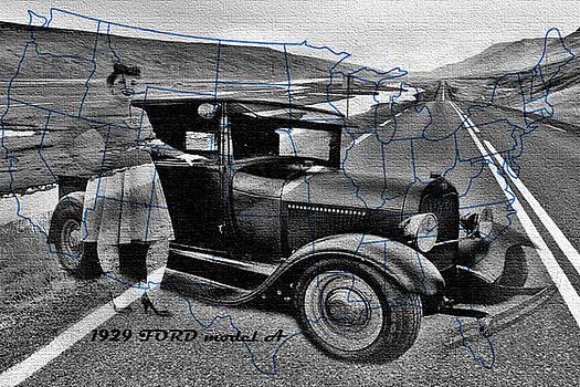 Old car collage6 by Fero Kopacik