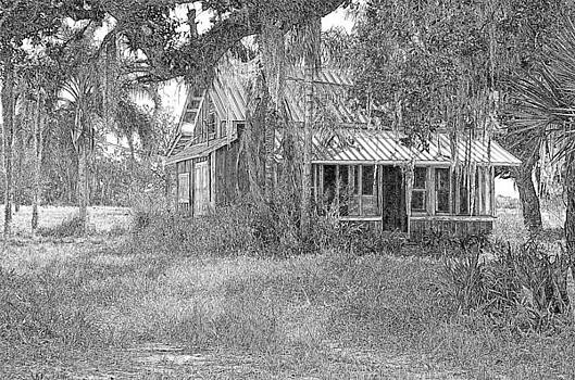 Old Florida House Pencil by Ronald T Williams