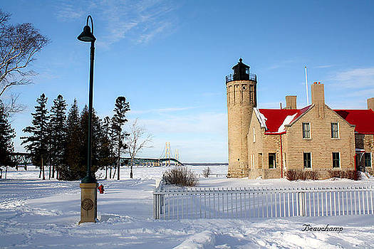 Old Mackinac Point Lighthouse by Angela  Beauchamp