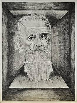 Old Man Head in Box by Glenn Calloway