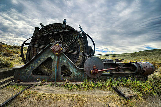 Old Mining Machine From Bodi California by Kriss Russell