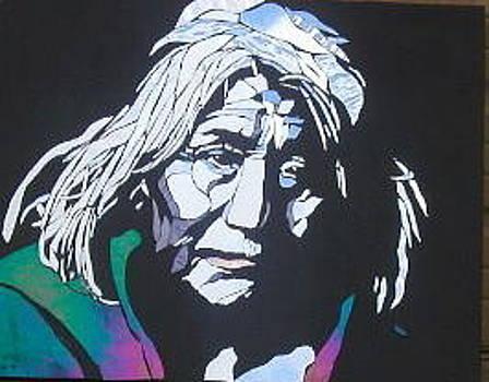 Old Navajo tribesman by Tom Runkle