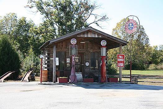 Old Service Station Arkansas by Al Blount
