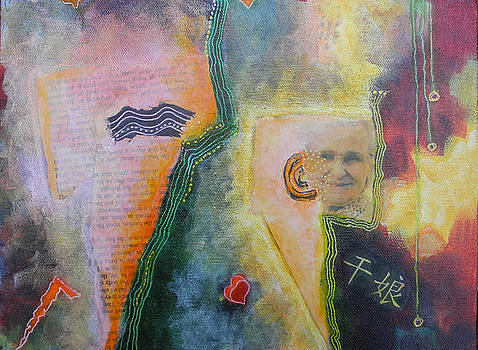 Old Women Series  diptych B  bottom by Elizabeth Falconer