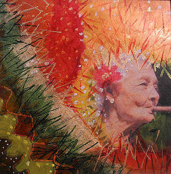 Old Women Series  Smokin by Elizabeth Falconer