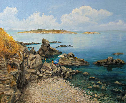 On The Rocks in The Old Part of Sozopol by Kiril Stanchev