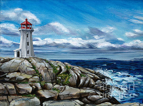 On the Rocks Peggy's Cove by Darlene Watters