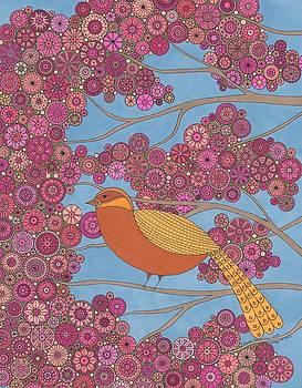 Orange On Pink by Pamela Schiermeyer