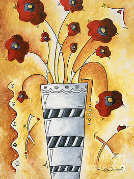 Original Poppies Poppy Floral Painting Fun and Funky Poppy Fun by Megan Duncanson by Megan Duncanson