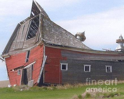 Our barn and the Tornado  by Ruthann  Hanson