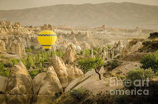 Balloon over White Valley - Cappadocia Turkey by OUAP Photography