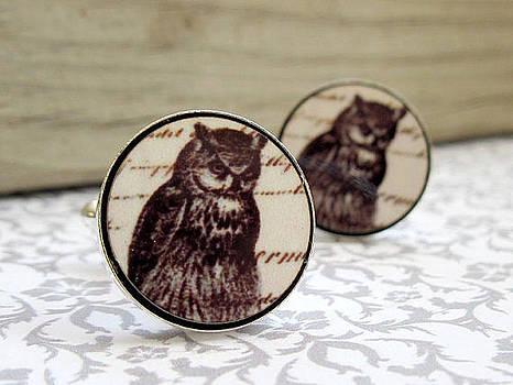 Owl Mens Cufflinks by Rony Bank