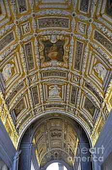 Painted ceiling of staircase in Doges Palace by Sami Sarkis