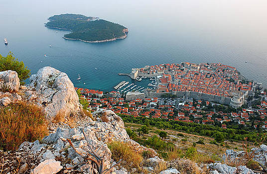 Panoramic view of the Old Town Dubrovnik and Island Lokrum by Kiril Stanchev