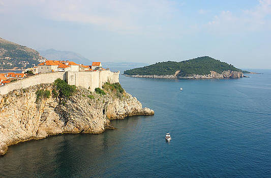 Panoramic View Toward old Town Dubrovnik and Island Lokrum by Kiril Stanchev