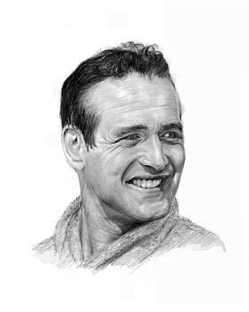 Paul Newman by Lou Ortiz