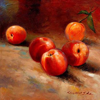 Peaches - Luscious fruit painting by Kanayo Ede