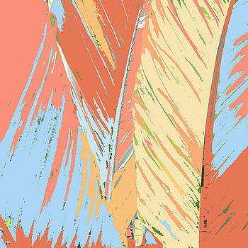 Peaches and Cream Palm by Rosie Brown