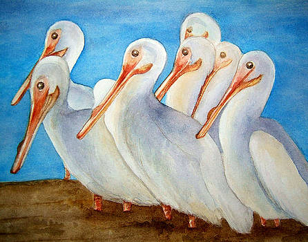 Pelicans on Parade by Rosie Brown
