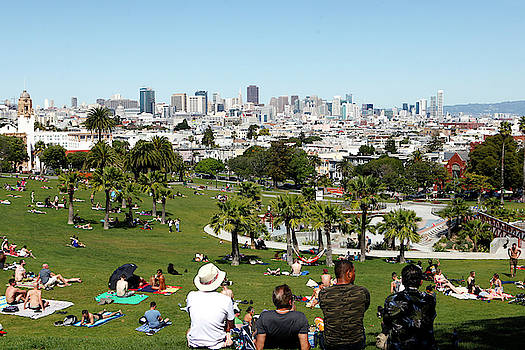 People Enjoying The View Of San by Jill Schneider