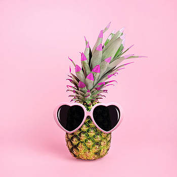Pineapple Wearing Sunglasses by