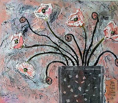 Pink Poppies  by Victoria  Johns