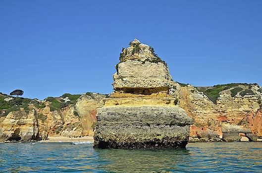 Ponta Da Piedade On The Algarve Coast by Enrique Calvo Ramiro