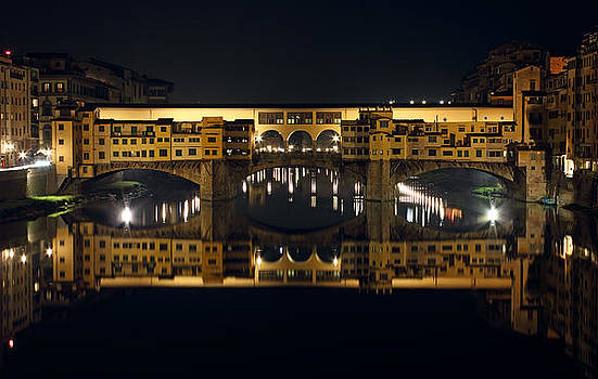 Ponte Vecchio by Night by Kiril Stanchev