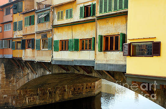 Ponte Vecchio detail in Florence Italy by Kiril Stanchev