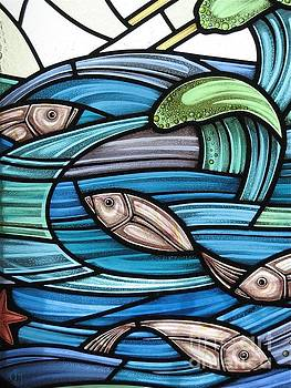 Protection Island Seascape by Gilroy Stained Glass