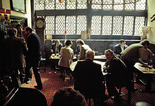 Pub interior in the 1980s by David Davies