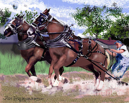 Pulling Horses by Jim Hubbard