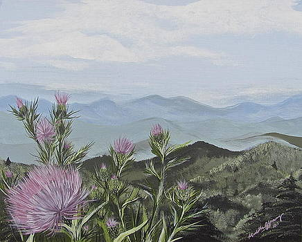 Purple Thistle Along The Blue Ridge by Michelle Young
