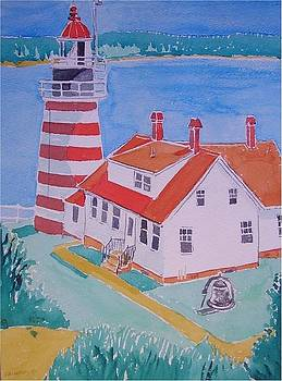 Quoddy Head Light by Catherine Worthley