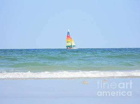 Rainbow Sailboat by Joanne Askew