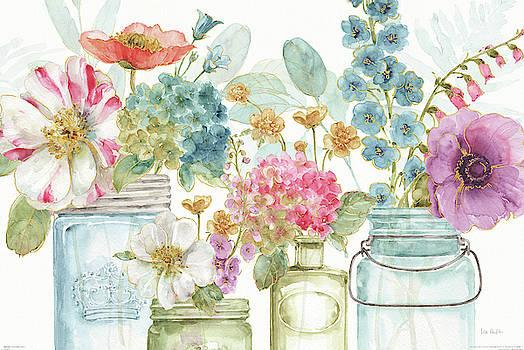 Rainbow Seeds Flowers X by Lisa Audit