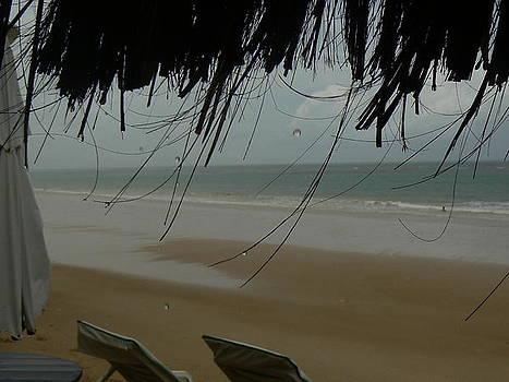 Raining Beach by Sabrina Vera