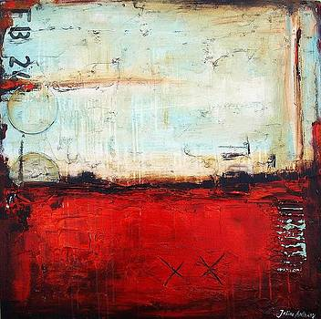 Red Abstract by Jolina Anthony