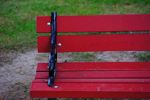 Red Bench by Tristan Bosworth