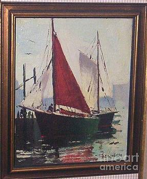 Red Masted Sloop by G Cambello