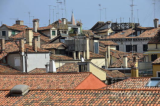 Red tiled roofs from Doges Palace by Sami Sarkis