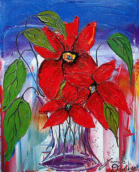 Red Wildflower 3 by Portland Art Creations