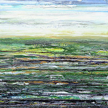 Redesdale Crags and Klints Rhythms and Texyures green  by Mike   Bell