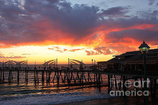 Redondo Pier Sunset by Bev Conover