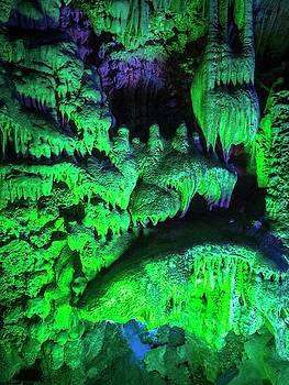 Reed Flute Cave In Guilin, Guangxi by Tino Soriano