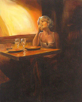 Rendevous at the Indian Restaurant by Connie Schaertl