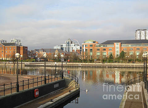 Residential buildings in Salford Quays Manchester by Kiril Stanchev